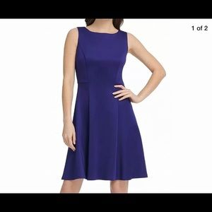 DKNY Blue A Line Fit & Flare Dress NWT $119